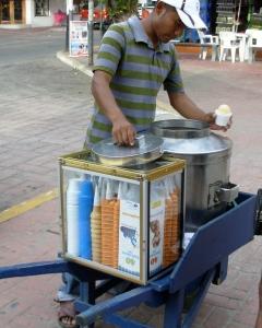 galvanized  tub ice cream vendor