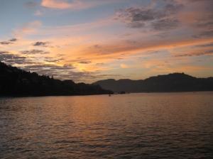 Sunrise on the way to La Madera Beach