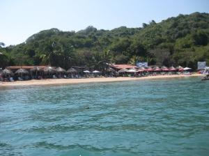 Ixtapa Island from the boat