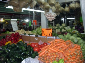 The mercado stall where we buy our Fruit & Veggies
