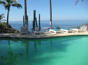 "Pool at Los Flamingos where ""Tarzan swam"