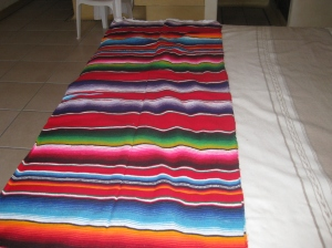 Serape for bed