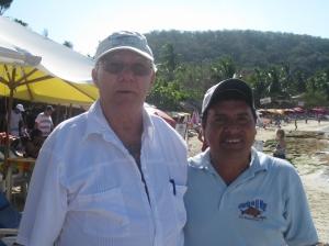 The Senor and Jose our waiter at Gloria Del Mar, Playa Las Gattas