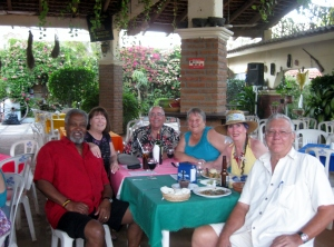The Senor and I with our Canadian friends from our apartment building