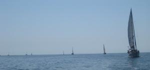Sail parade to Ixtapa