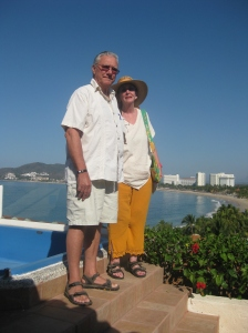 The Senor and me on the terrace of our room at Pacifica