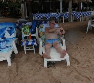 Doyle relaxing at Ixtapa Island