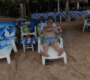 Doyle relaxing at Ixtapa Island