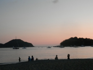 Sunset over Zihuatanejo Bay