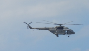 Military helo that flies over our ap from time to time