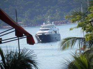 Yacht in Zihuatanejo Bay