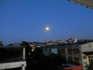 Morning moon over Zihuatanejo