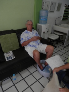 The Senor getting a pedicure