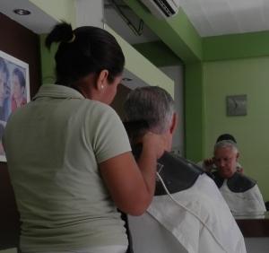 The hair cut