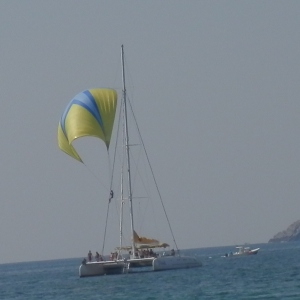 Picante with Spinnaker rider