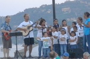 Steve and Brian accompanying the children from the orphans home.