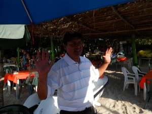 Jose our waiter at Gloria del Mar