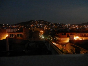 Zihuatanejo from the roof just before sunrise