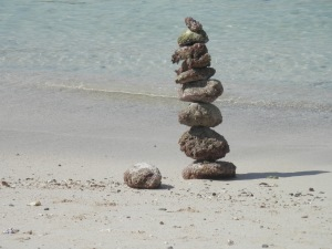 Interesting beach sculpture, artist unknown