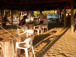 Chula Vida beach bar palapa