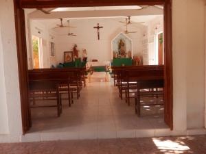Simple but beautiful Church in Barre de Potosi