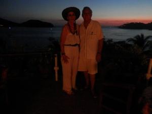 Doyle and Kathleen sunset at the Catalina Sunset bar
