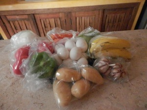 I love grocery shopping here, and buying eggs in plastic bags amazes me.