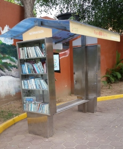 Books on both sides, but no access.