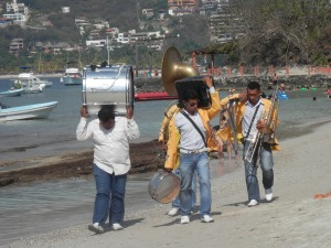 Marching band of Playa Las Gatas