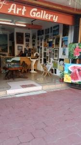 Art gallery across the street