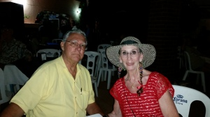 The Senor and I enjoying the evening. Photo cour test of Patty a great photoGrapher as this is about our best picture