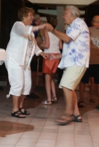 "The Senor dancing with our friend Josephine while Jimmi played ""Josephine"""