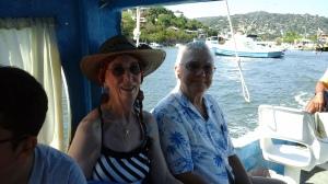 The Senor and I on the panga to Las Gatas