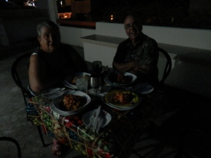 Dwight and Lynn roof top dinner