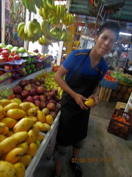 Young fruit monger
